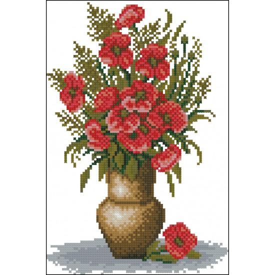 Букет от макове във ваза