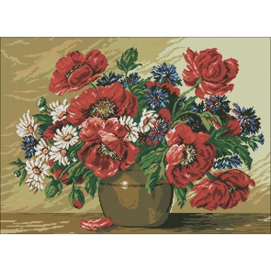 Пролетен букет в месингова ваза