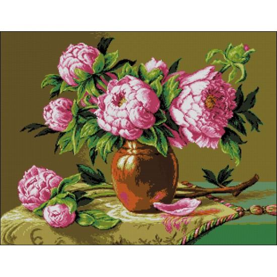Розови божури