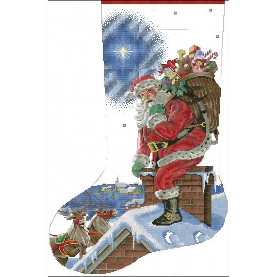 Дядо Коледа на покрива