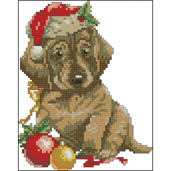 Коледно кученце