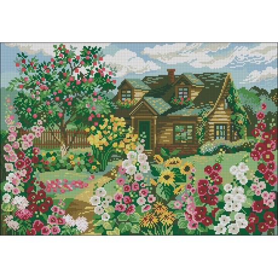 Къща в цветна градина