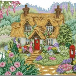 Къща с цветни могили