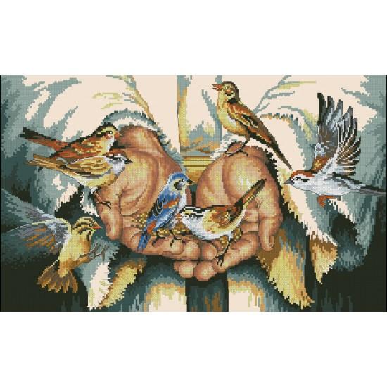 В ръцете му