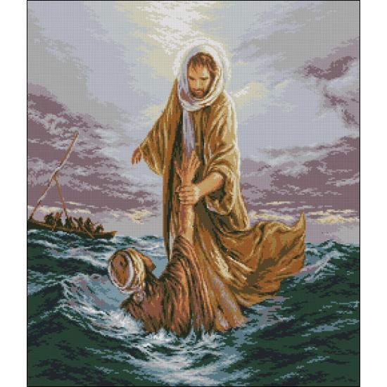 Иисус спасява Петър